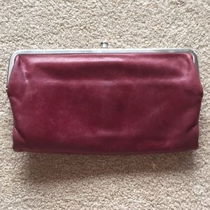 HOHO Lorraine wallet in Red/wine/burgundy